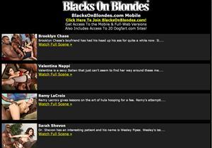 Blacks On Blondes Mobile